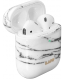 LAUT HUEX ELEMENTS for AirPods 1/2 Marble White, Polycarbonate, Charging Case, Shockproof, scratch-resistant