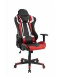 Žaidimų kėdė su galvos ir juosmens atrama, juoda/raudona