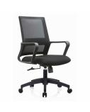 Biuro kėdė STARK su fiksuotais porankiais, juoda