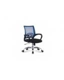 Biuro kėdė DELI su fiksuotais porankiais, juoda/mėlyna