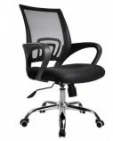 Biuro kėdė DELI su fiksuotais porankiais, juoda/žalia