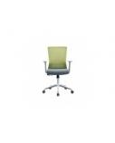 Biuro kėdė LURA su fiksuotais porankiais, pilka/žalia
