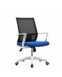 Biuro kėdė HOBEN su fiksuotais porankiais, balta/mėlyna/juoda