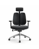 Biuro kėdė ASPEN su dviejų dalių atlošu, juoda
