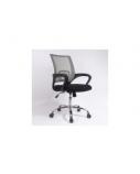 Biuro kėdė DELI su fiksuotais porankiais, juoda/pilka