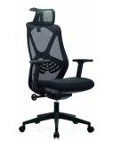 Biuro kėdė AEROX COMFORT su aukšta nugaros ir galvos atrama, juoda
