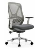 Biuro kėdė AEROX WHITE  su nugaros atrama, balta/pilka