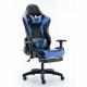 Žaidimų kėdė GAMESTER su galvos atrama ir juosmens pagalve, atrama kojoms juoda/mėlyna