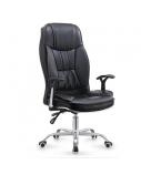 Dirbtinės odos biuro kėdė KONG, juoda