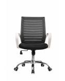 Biuro kėdė TWIST su fiksuotais porankiais, balta/juoda