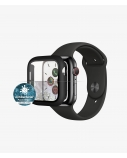 PanzerGlass Apple, Watch 4/5/6/SE 40mm, Antibacterial glass, Black, Antifingerprint screen protector, Full frame coverage; Rounded edges; Crystal clear; 100% touch preservation; Original PanzerGlass; Easy Click Solution; No Air Bubbles