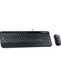 Microsoft Wired Desktop 600 for business (EN-RU) (3J2-00015), laidinė klaviatūra su pele, juoda