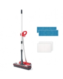 Polti Moppy with sanitising base Cordless operating, Washing function, Red