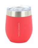 Yoko Design Isotherm mug with cup Capacity 0.25 L, Material Stainlees steel, Red