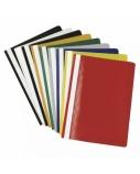 Segtuvėliai su įsegėle ir skaidriu viršeliu A4, geltoni, pakuotėje 25 vnt (876812) geltoni, pakuotėj