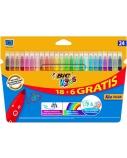 BIC Spalvoti Flomasteriai KIDS COULEUR 24 spalvų rinkinys 103240