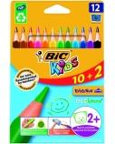 BIC Spalvoti pieštukai EVOLUTION TRIANGLE 12 spalvų rinkinys 8871462