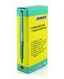 STANGER Rašiklis Solid 0.7 mm, juodas, pakuotėje 10 vnt 740010