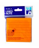 Double A Lipnūs lapeliai Neon Orange 76x76 mm, linijomis, 100 lapelių