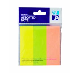 Double A Lipnūs lapeliai Neon 76x25 mm, Mix 3 Colors