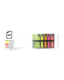 Spalvotas Neon popierius Double A, 75g, A4, 500 lapų, Rainbow 4 Neon Green, Neon Yellow, Neon Orange