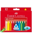 Vaškinės kreidelės Faber-Castell, (12)  1303-004