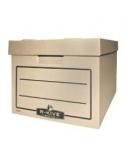Archyvinė dėžė Fellowes, 340x450x275mm, ruda, ekologiška, nuimamas dangtis  0830-106