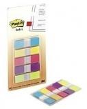 Indeksai 3M, Post-it, 11.9x43.2mm, spalvoti, plastikiniai (5x20)  0718-015