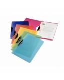 Aplankas su šoniniu spaustuku Leitz Rainbow, A4, plastikinis, violetinis, skaidrus  0818-109