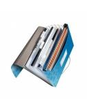 Aplankas-kartoteka su gumele Leitz WOW, A4, plastikinis, mėlynas, 6 skyrių  0816-103