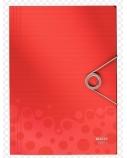 Aplankas su gumele Leitz Bebop, A4, plastikinis, raudonas  0816-115