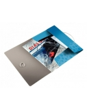 Aplankas su gumele Leitz WOW, A4, plastikinis, mėlynas  0816-113