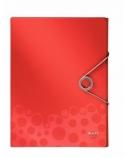 Aplankas-dėklas su gumele Leitz Bebop, A4/30 mm, plastikinis, raudonas  0816-120