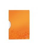 Aplankas su šoniniu spaustuku Leitz Bebob, A4, plastikinis, oranžinis  0818-104