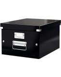 Archyvinė dėžė Leitz, 281x369x200mm, A4, juoda, nuimamas dangtis  0830-208