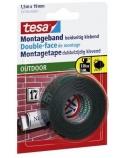 Lipni juostelė Tesa, 19mmx1,5m, dvipusė, lauko darbams  1114-205