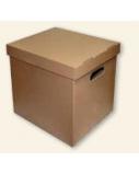 Archyvinė dėžė SMLT, 360x290x350mm, ruda, nuimamas dangtis  0830-308