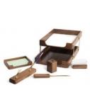Darbo stalo rinkinys Forpus, medinis, rudas, 6 dalių  1001-002