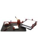 Darbo stalo rinkinys Forpus, medinis, vyšninis, 6 dalių  1001-007