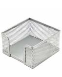 Dėžutė lapeliams Forpus, 9.5x9.5cm, sidabrinė, perforuoto metalo  1005-007