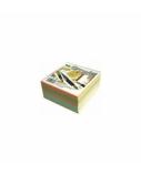 Lapeliai užrašams SMLT, 9x9 cm, spalvoti, neklijuoti (500)  0716-010