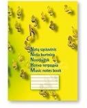Sąsiuvinis, natų SMLT, A4/12, minkštas, spalvotas viršelis  0722-017