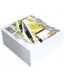 Lapeliai užrašams SMLT, 9x9 cm, balti, klijuoti (500l)  0716-019