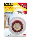 Lipni juostelė Scotch® Transparent, 19mmx1,5m, dvipusė, lauko ir vidaus darbams  1114-123