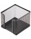 Dėžutė lapeliams Forpus, 9.5x9.5cm, juoda, perforuoto metalo  1005-008