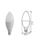 "Lemputė šviesos diodų ""LED"" Kanlux, C37, 8W, 600lm, E14-NW  1713-270"