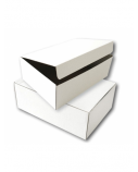 Archyvinė dėžė SMLT mikrogofro kartono, balta 120x355x255mm