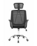 Biuro kėdė su aukšta nugaros atrama juoda