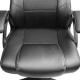 Dirbtinės odos biuro kėdė juoda