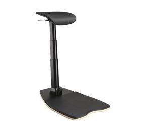 Ergonominė atraminė kėdė su antinuovargio kilimėliu, juoda